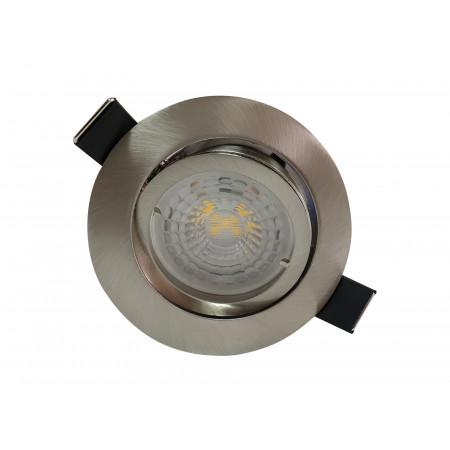 3 Spots Led encastrables orientables 380lm Ø83 acier brossé