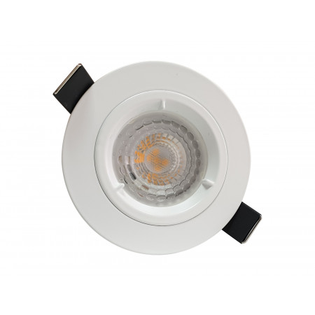 5 Spots Led encastrables fixes 380lm Ø85 blanc