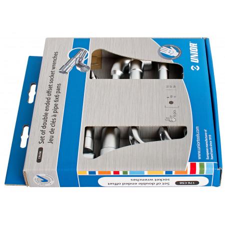 6 clés à pipe 6 pans 8-19mm UNIOR
