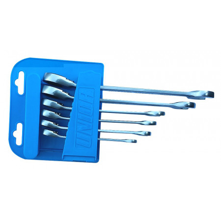 6 clés mixtes à cliquet 8 à 19mm UNIOR