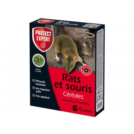 Céréales raticides rats et souris 6x25g