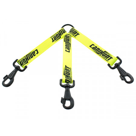 Accouple 3 chiens plate 25cm jaune