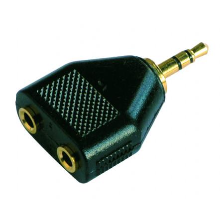 Adaptateur Jack Gold J 3.5 M ST/2 J 3.5 F ST