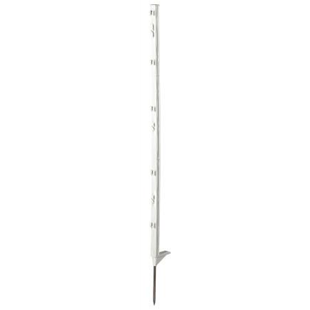 Piquet clôture PVC Classic 105cm blanc 8 isolateurs