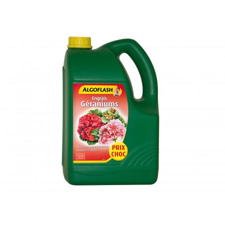 Engrais liquide géraniums 4L + 25% ALGOFLASH