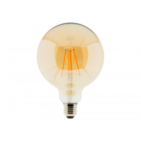 Ampoule à filament LED ambrée Globe 7W E27 540lm 2500K