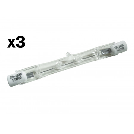 Ampoule halogène crayon R7S 120W 78mm X3