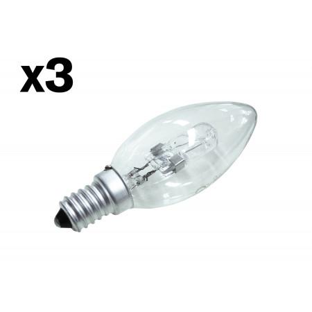 Ampoule halogène flamme 28W E14 X3