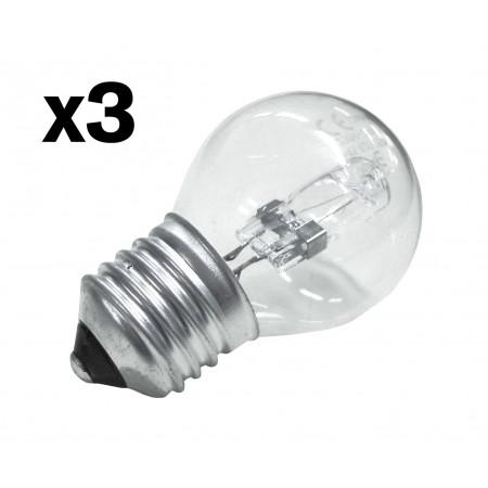 Ampoule halogène sphérique 28W E27 X3