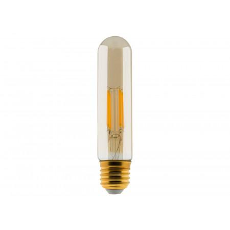 Ampoule à filament LED ambrée Tube 4W E27 400lm 2500K