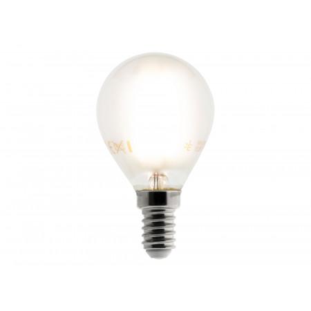 Ampoule LED filament dépoli sphérique 4W E14