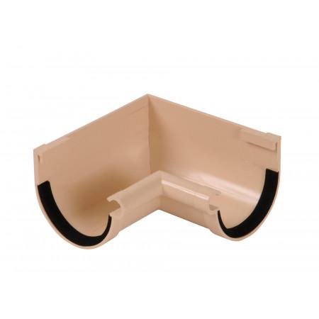Angle intérieur pour gouttière demi ronde D16 sable