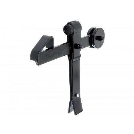 Arrêt de portail à bascule noir à bétonner 300x240mm GAH ALBERTS