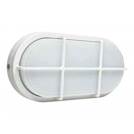 Hublot Led ovale alu 20W 1680lm IP65 Blanc