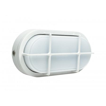 Hublot Led ovale alu 7W 680lm IP65 Blanc