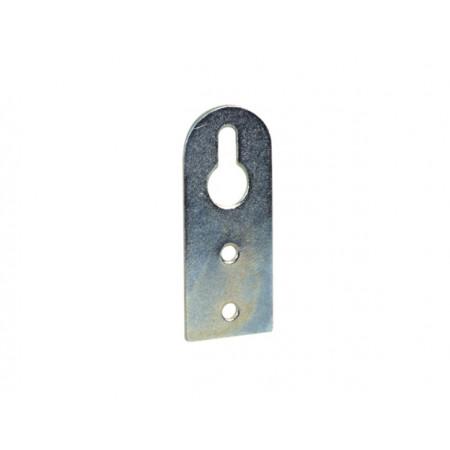 Attache élément à boutonnière acier zingué 50x20mm x2