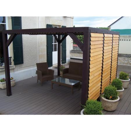 Auvent bois 10,86 m²
