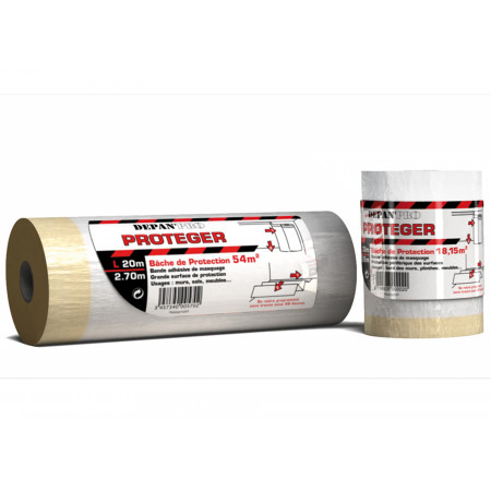 Bâche protection peinture 2.7x20m