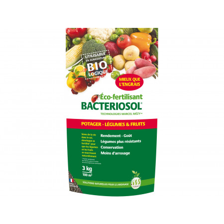 Eco fertilisant potager fruits et légumes 3kg BACTERIOSOL