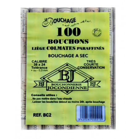 Bouchons en liège colmatés 2 ans X100
