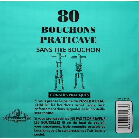 Bouchons Practicave X80