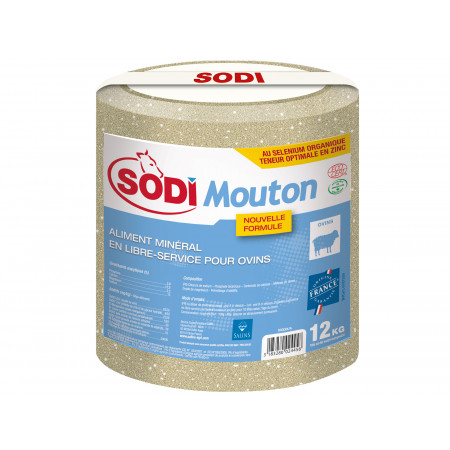 Bloc à lécher de sel SODIMOUTON 12kg