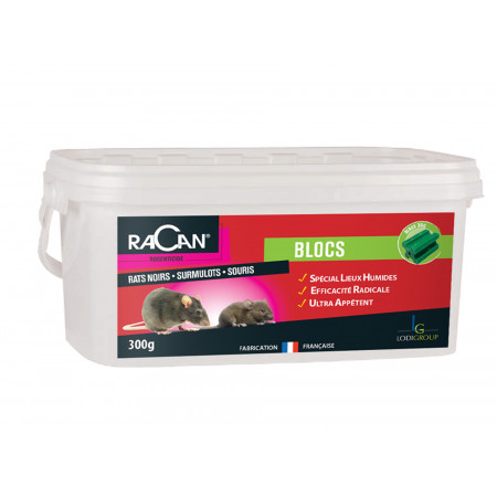 Bloc rat-souris 300g RACAN