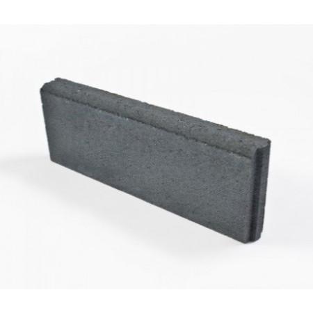 Bordure béton lisse droite gris ardoise 20x50