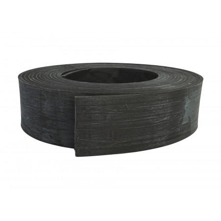 Bordure de jardin PE recyclé noir rouleau 10m