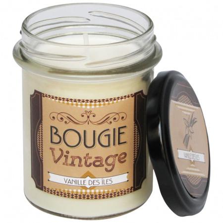 Bougie végétale vintage vanille 150g