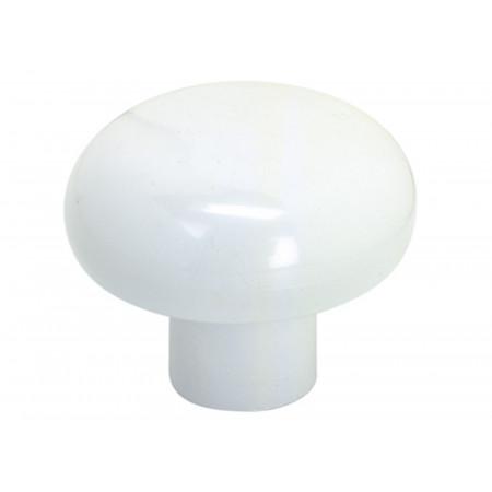 Bouton rond ø35mm plastique blanc