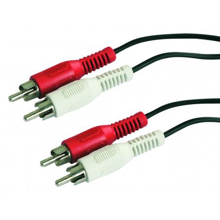 Câble 2 RCA mâle / 2 RCA mâle L.1,20m