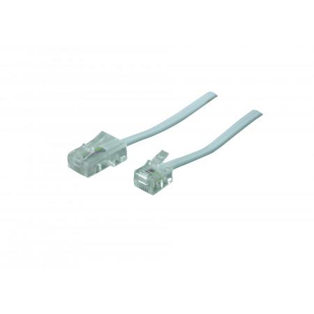 Câble avec fiches modulaires RJ11 / RJ45
