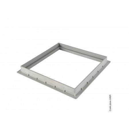 Cadre pour grille / tampon 400X400 Gris