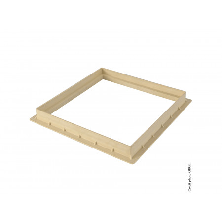Cadre pour grille / tampon 400X400 Sable