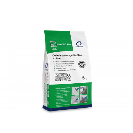 Colle carrelage Cera'fix® Flex 5kg blanc