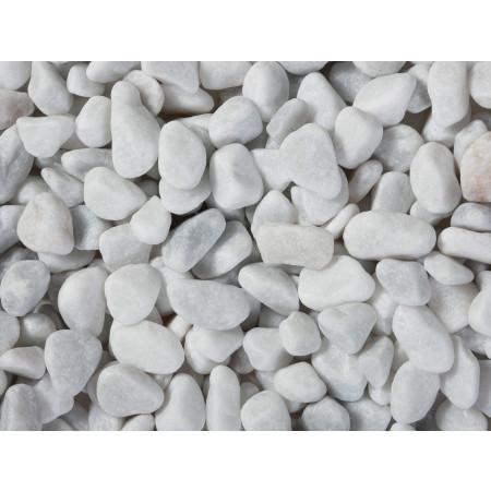 Galet marbre blanc roulé CARRARE 7/15 Big Bag 375kg