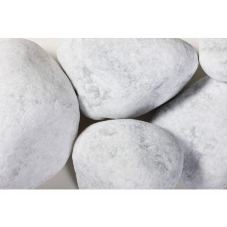 Galet roulé marbre blanc de Carrare 60/100 25kg