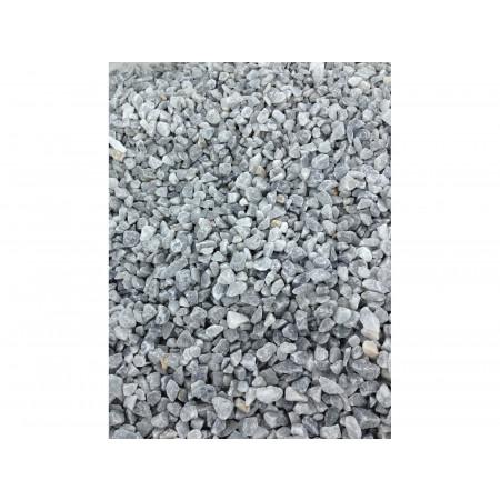 Gravillon marbre blanc bleuté 8/16 25kg