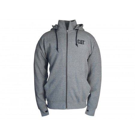 Sweat à capuche zippé Homme CATERPILLAR Basin Gris