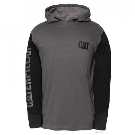 T-shirt CATERPILLAR Hooded Banner noir