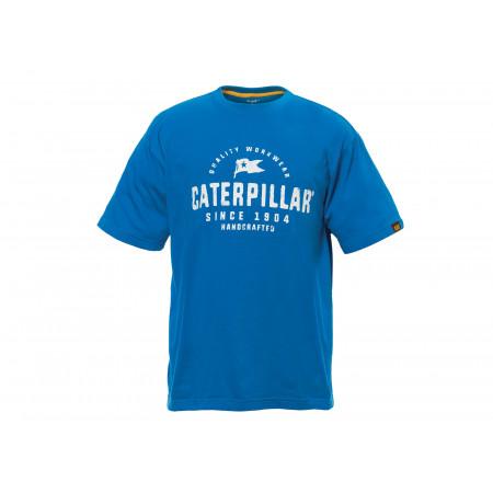 T-shirt Handcrafted CATERPILLAR Bleu