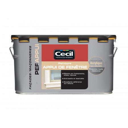 Peinture appui de fenêtre CecilPRO blanc satin 2,5L