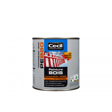 Peinture bois Extrême PEB60 Satin Blanc 0,5L