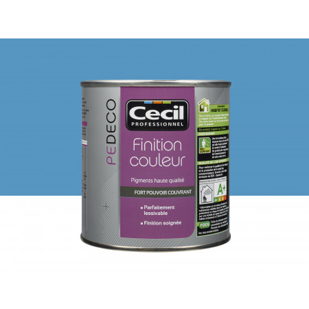 Peinture finition PE DECO satin Bleu Piscine 0,5L