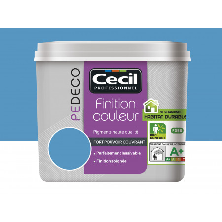 Peinture finition PE DECO satin Bleu Piscine 2,5L