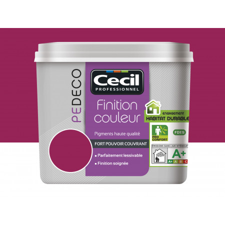 Peinture finition PE DECO satin Framboise 2,5L