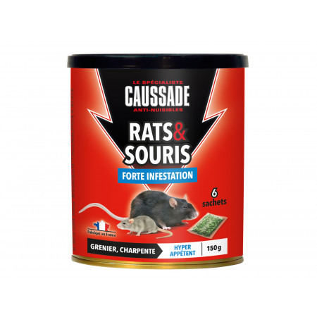 Céréales raticides forte infestation 6x25g