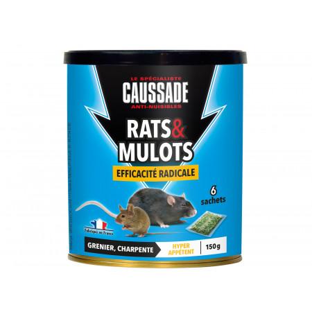 Céréales raticides spécial mulots et rats 6x25g