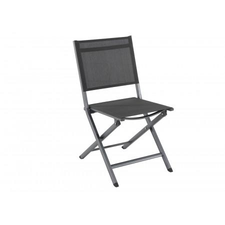 Chaise de jardin pliante Censo Anthracite